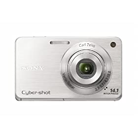 Sony Cyber-Shot DSC-W560 14.1 MP Digital Still Camera with Carl Zeiss Vario-Tessar 4x Wide-Angle Optical Zoom Lens and 3.0-inch LCD (Silver)