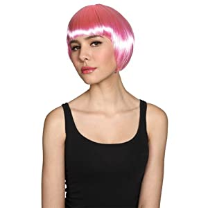 Wicked Costumes Ladies Short Bob Hairstyle Wig Fancy Dress