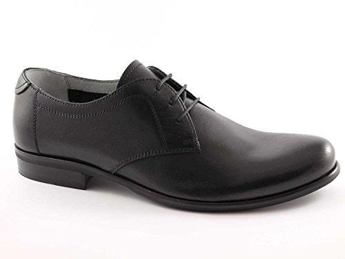 NERO GIARDINI 2550 nero scarpe uomo derby liscio eleganti sportive