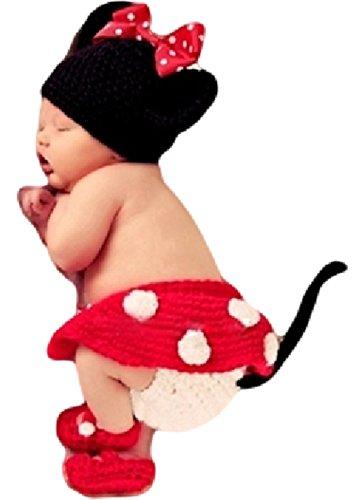 赤ちゃん用 ミニーマウス コスチューム(赤)