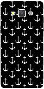 Snoogg Black And White Anchors Designer Protective Back Case Cover For Samsun...