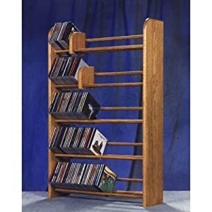 500 Series 275 CD Multimedia Storage Rack Finish: Natural