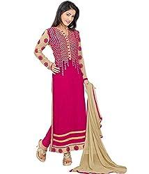 Dharmnandan Tex Women Salwar Suit Dress Material (DT005_Pink)