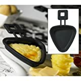 Mastrad F66800 Set of 2 Triangular Raclette Pans, Black