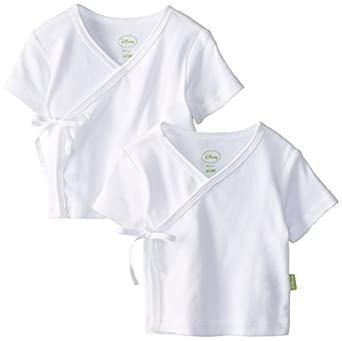 Disney Cuddly Wrap Tee 2 Pack, White, 0-3 Months