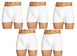 Rupa Frontline White D.C.I.F Men's Trunks - (Pack Of 5-Size-110)