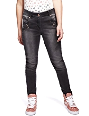 Cotton Rich Studded Denim Jeans