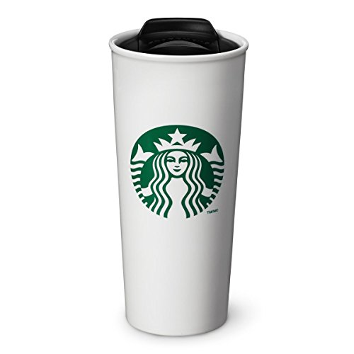 Starbucks Double Wall Ceramic Traveler Coffee Mug, 16 fl oz (Starbucks Classic Mug compare prices)