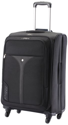 Vip VIP Benz Strolly Exp 4 Wheel Nylon Black Softsided Carry-On (STBENX75BLK) Small Luggage