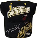 Dwyane Wade Autographed Hat - 2006 NBA Champs - Autographed NBA Hats
