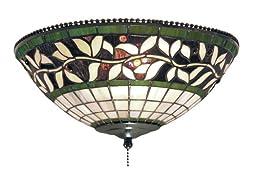 Elk 990-G English Ivy 2-Light Fan Kit/Ceiling Mount, 4-1/2-Inch, Tiffany Bronze