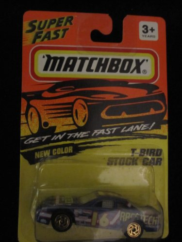 T-BIRD Stock Car (bark blue 16 tampo) Matchbox Superfast Collectible Car #7 - 1