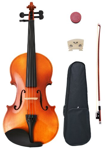 A 4//4 or 3//4 Violin Dresden Ebony Chinrest with Standard Bracket Installed Vwws