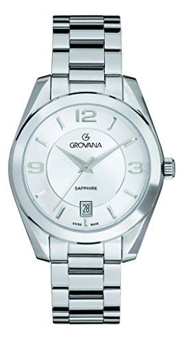 GROVANA - 5081.1132 - Montre Mixte - Quartz - Analogique - Bracelet Acier inoxydable argent