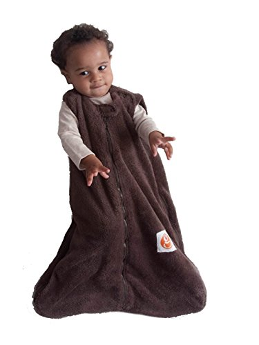 Gunamuna Fleece Gunapod Wearable Baby Sleepsack, Chocolate, Small