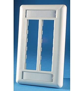 Ortronics 6-Port TracJack Faceplate, Fog-White OR-40300545