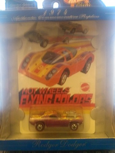 Hot Wheels 1974 Authentic Commemorative Replica 30 Years Rodger Dodger Flying Colors
