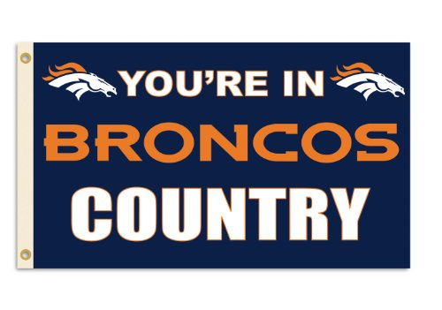 """Nfl Denver Broncos 3-By-5 Foot """"In Country"""" Flag front-881694"""