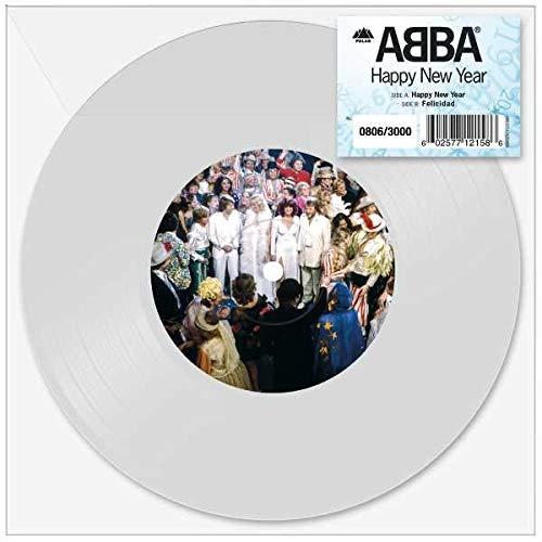 Vinilo : ABBA - Happy New Year (Colored Vinyl, White, Limited Edition, United Kingdom - Import)