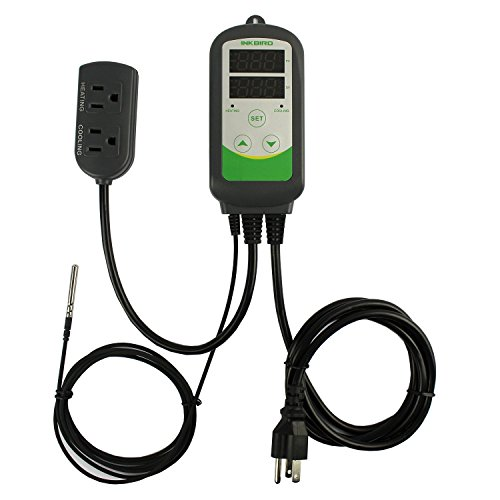 Inkbird-100-240VAC-ITC-308-Digital-Temperature-Controller-Outlet-Thermostat-2-stage-1000W-w-Sensor
