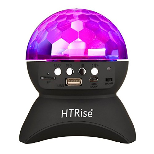 HTRise Rotating LED Strobe Bulb Multi Changing Color Crystal Stage Light, Bluetooth Speaker With Party Dance Light.