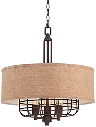 franklin iron works tremont 20 wide rust pendant. Black Bedroom Furniture Sets. Home Design Ideas