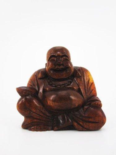 8cm mini happy buddha holz gl cksbringer feng shui fair trade b9. Black Bedroom Furniture Sets. Home Design Ideas
