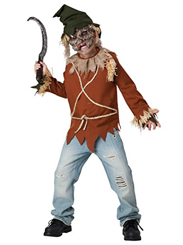 [InCharacter Costumes Psycho Scarecrow Costume, Size 6/Small] (Scary Scarecrow Halloween Costumes)