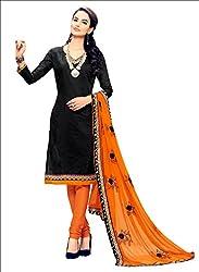YOUR CHOICE Chanderi Cotton Pink Plain Women's Straight Suit DRMN112