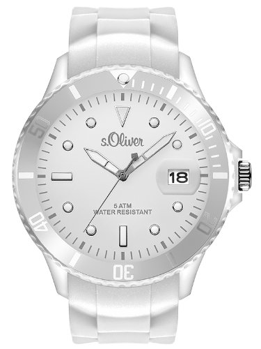 s.Oliver Herren-Armbanduhr XL Analog Quarz Silikon SO-2678-PQ