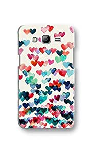 EYP Hearts in the Air Pattern Back Cover Case for Samsung Grand 2 (7106)