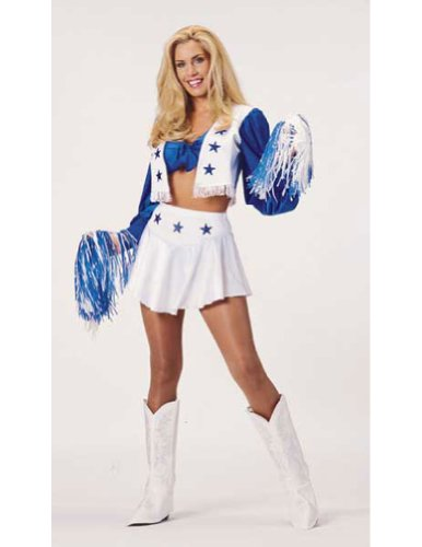Dallas Cowboy Cheerleader Deluxe Lg Halloween Costume