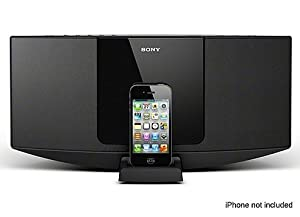 Sony Desktop Music System, Works with iPhone, Made For iPod, Single Disc CD Player, CD, CD-R/RW, And MP3 Playback, AM / FM Radio With 30-Station Presets, 10 Watts, Full-Range Speaker System, Clock, Alarm And Sleep Timer,
