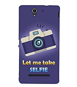 Let Me Take Selfie 3D Hard Polycarbonate Designer Back Case Cover for Sony Xperia C3 Dual D2502 :: Sony Xperia C3 D2533