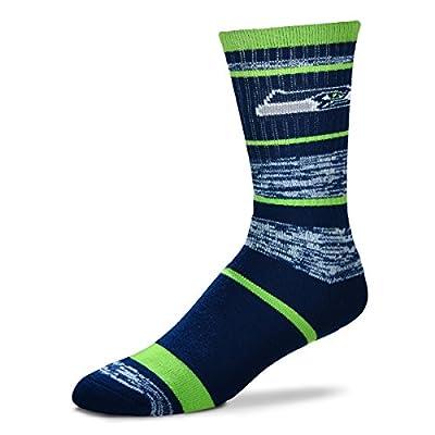 For Bare Feet NFL Seattle Seahawks Men's Socks (504 RMC Stripe)