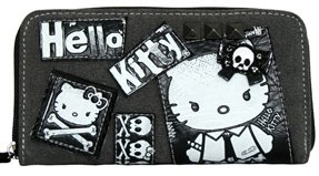 Loungefly Angry Hello Kitty Punk Rock Zipper Vegan Wallet