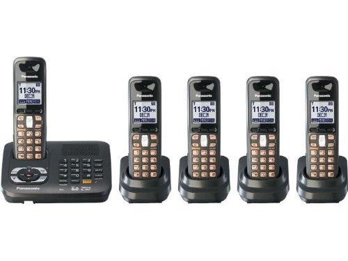 Bộ điện thoại bàn không dây Panasonic KX-TG6445T DECT 6. 0 Cordless Phone
