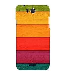 PrintVisa Colorful Wood Pattern 3D Hard Polycarbonate Designer Back Case Cover for Infocus M530