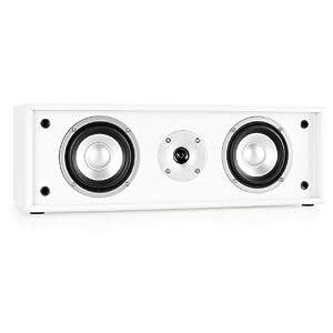 Auna LINIE-300-CN-WH/BK loudspeaker - loudspeakers (Black, White, Floor, Tabletop/bookshelf, Speaker set unit, Wired, Terminal, Wood)