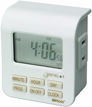 Woods 50008 7-Day Digital Outlet Timer