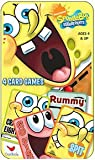 NICKELODEON SpongeBob SQUAREPANTS 4 Card Games Tin Box Set- Go Fish, Rummy, Spit and Crazy Eights