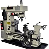 """BOLTON 16"""" x 20"""" Combo Metal Lathe/Mill/Drill Belt Driven Swing over bed: 16 1/2"""",Spindle Hole Diameter:1-1/10, Distance Between Centers: 19 3/5"""", Runs On 2 Separate Motors"""