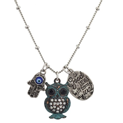 lux-accesorios-boho-good-times-will-come-my-way-patina-buho-hamsa-charm-collar