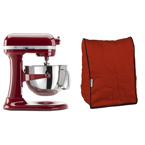 KitchenAid KP26M1XER 6 Qt. Professional 600 Series - Empire Red and KitchenAid KMCC1ER Stand Mixer Cloth Cover - Empire Red Bundle (Kitchen Aid Stand Mixer Bundle compare prices)