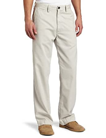 Haggar Men's LK Life Khaki Relaxed Straight Fit Flat Front Chino Pant,Silver,32x30