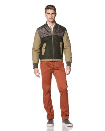 Velour Men's Smith Short Jacket  [Brown/Green]