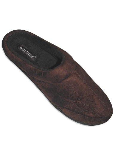 Cheap Goldtoe – Mens Slipper, Brown 27626 (B0064DS0PO)
