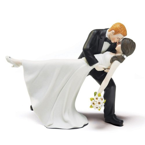 """Spring Rose(TM) """"A Romantic Dip"""" Dancing Bride and Groom Couple Figurine for Cakes"""
