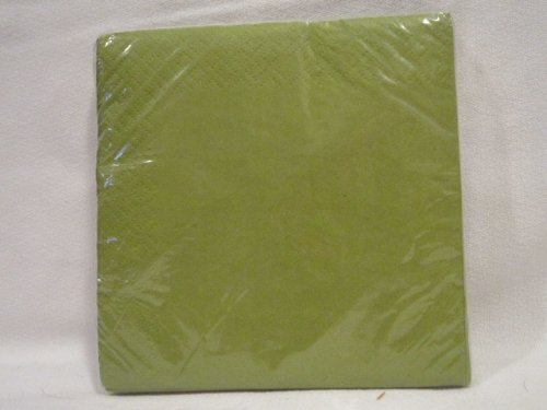DDI - Beverage Napkins- Pea Green (1 pack of 48 items)
