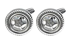 Sorella'z Wheel Cufflinks for Men's